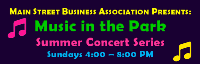 Music in the Park Graphic