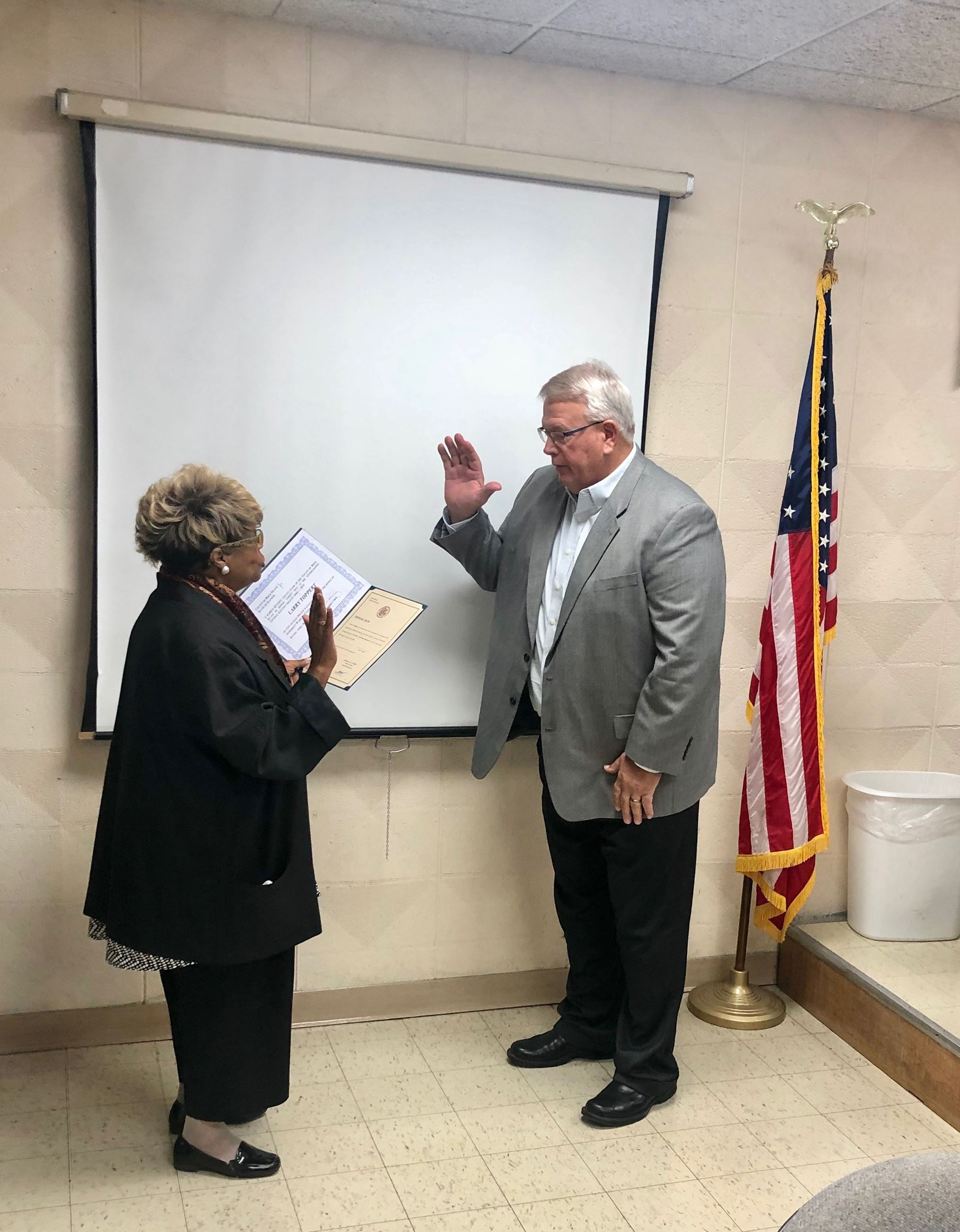 Toppert Swearing In
